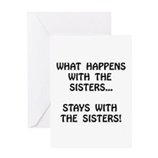 Happens Sisters Greeting Card