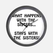 Happens Sisters Wall Clock