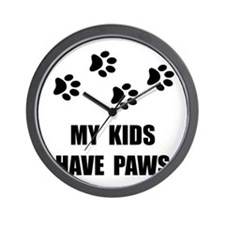 Kids Paws Wall Clock
