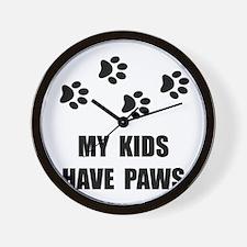 Kids Paws Wall Clock