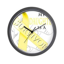 My Daughter is a Survivor (yellow) Wall Clock