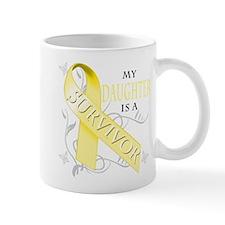 My Daughter is a Survivor (yellow) Mug