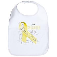 My Daughter is a Survivor (yellow) Bib