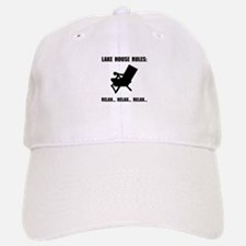 Lake House Rules Baseball Baseball Baseball Cap