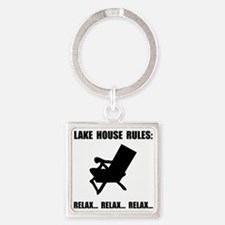 Lake House Rules Keychains