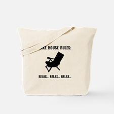 Lake House Rules Tote Bag