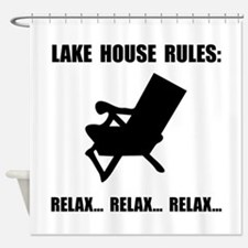 Lake House Rules Shower Curtain