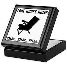 Lake House Rules Keepsake Box