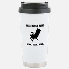 Lake House Rules Travel Mug
