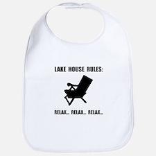 Lake House Rules Bib