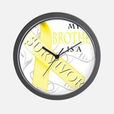 My Brother is a Survivor (yellow) Wall Clock