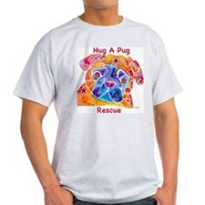 Pug Rescue LOVE Ash Grey T-Shirt
