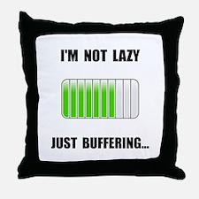 Lazy Buffering Throw Pillow
