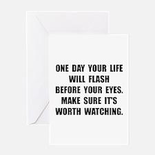 Life Flash Greeting Card
