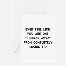 Losing It Greeting Card