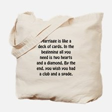 Marriage Cards Tote Bag