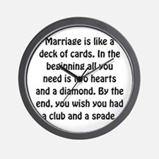 Marriage Cards Wall Clock