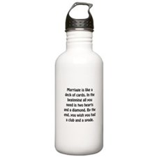 Marriage Cards Water Bottle