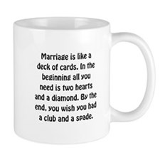 Marriage Cards Small Mug