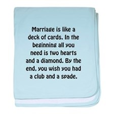 Marriage Cards baby blanket