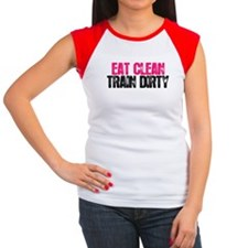Eat Clean Train Dirty [Pink & Black] T-Shirt