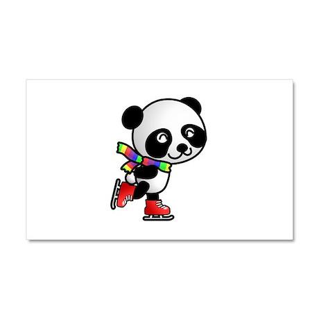 Skating Panda Car Magnet 20 x 12