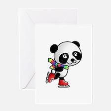Skating Panda Greeting Card