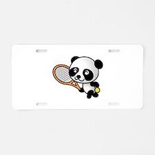 Tennis Panda Aluminum License Plate