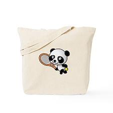Tennis Panda Tote Bag