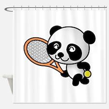 Tennis Panda Shower Curtain