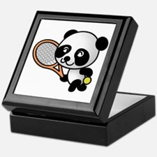 Tennis Panda Keepsake Box