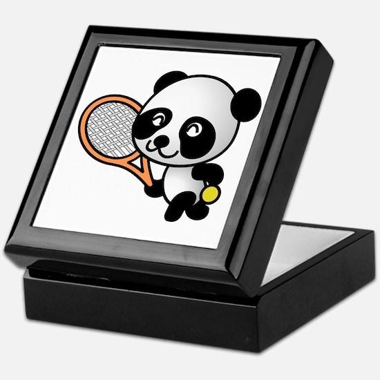 Tennis Panda Keepsake Box