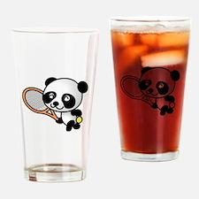 Tennis Panda Drinking Glass