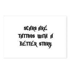 Scar Tattoos Postcards (Package of 8)