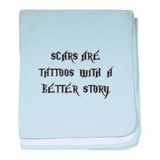 Scar Tattoos baby blanket