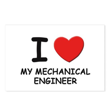 I love mechanical engineers Postcards (Package of