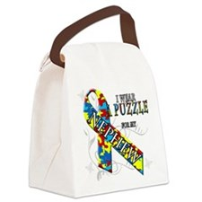 I Wear A Puzzle for my Nephew.png Canvas Lunch Bag
