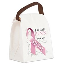 I Wear Pink for my Mom.png Canvas Lunch Bag