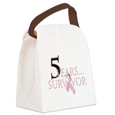 5 Years Breast Cancer Survivor.png Canvas Lunch Ba