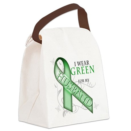 I Wear Green for my Husband.png Canvas Lunch Bag