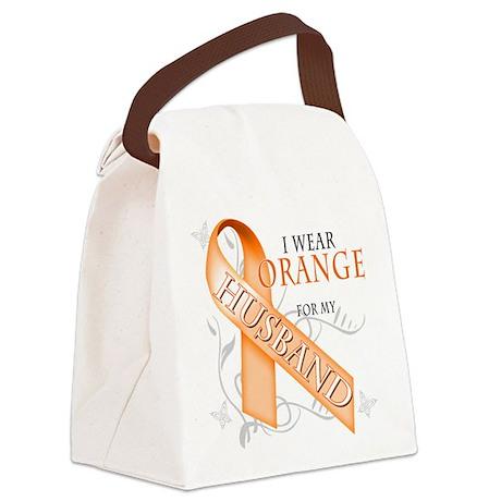 I Wear Orange for my Husband.png Canvas Lunch Bag