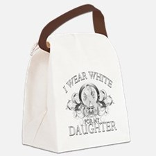 I Wear White for my Daughter (floral).png Canvas L