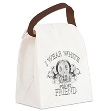I Wear White for my Friend (floral).png Canvas Lun