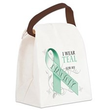 I Wear Teal for my Nanny.png Canvas Lunch Bag