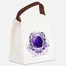 BowlingGrandma (purple).png Canvas Lunch Bag