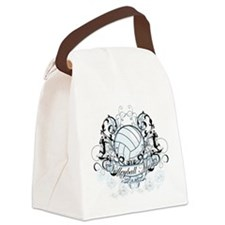 Volleyball Mom.png Canvas Lunch Bag