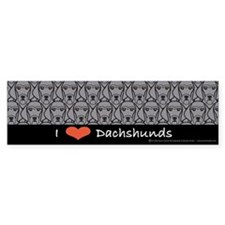 I Love Wirehaired Dachshunds Bumper Bumper Sticker