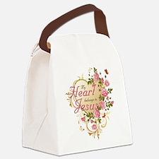 Heart belongs to Jesus Canvas Lunch Bag