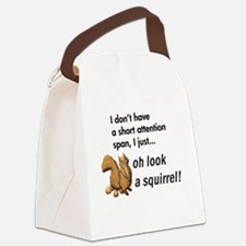 Oh Look A Squirrel Canvas Lunch Bag