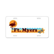 Fort Myers - Beach Design. Aluminum License Plate